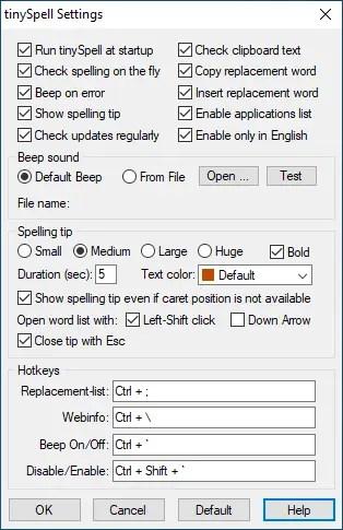 Wordpad spell check 07