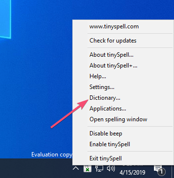 Wordpad spell check 08