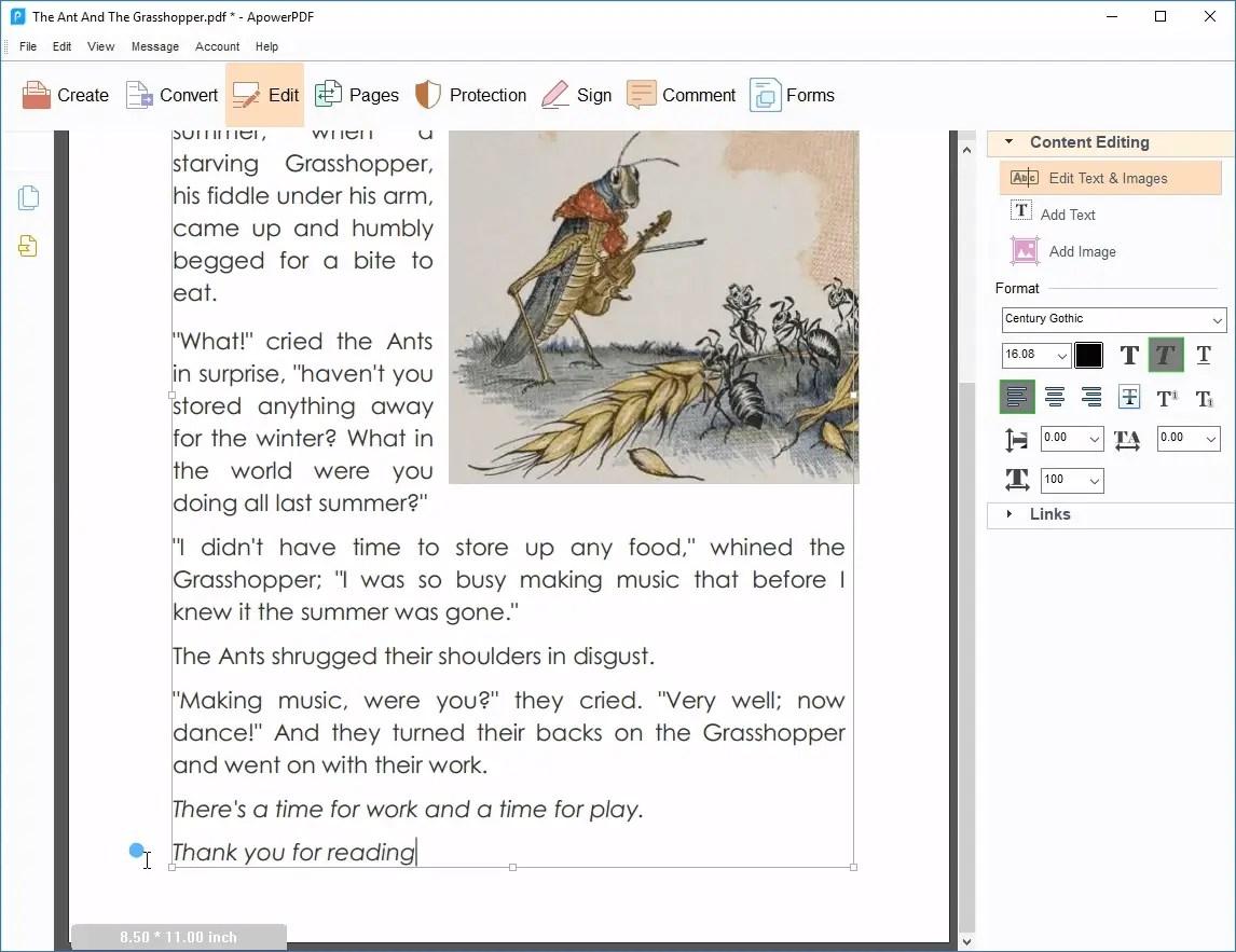 Windows pdf editor apowerpdf
