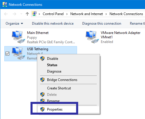 Change network priority step 03