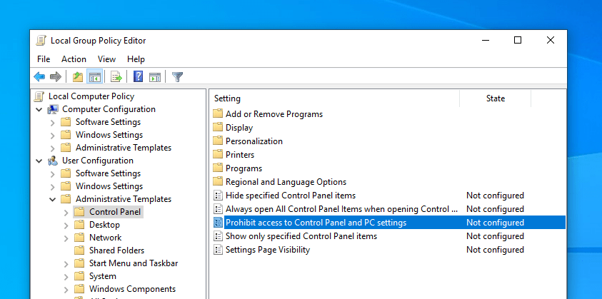 How to Disable PC Settings App in Windows 10 to Restrict Access