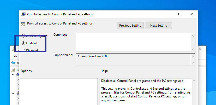 Disable windows 10 pc settings app 04