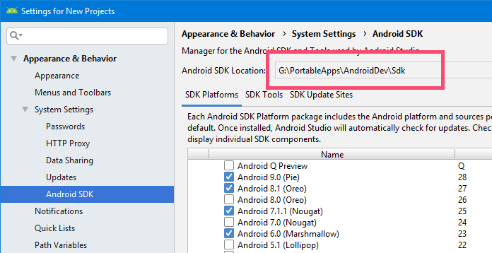 Launch avd manager without android studio step 01