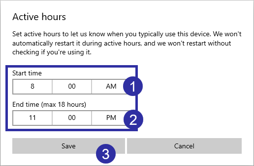 Windows 10 active hours 03