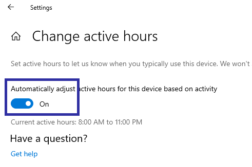 Windows 10 active hours 04