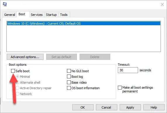 Windows 10 safe mode 10