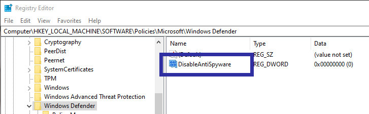 Disable windows defender 11