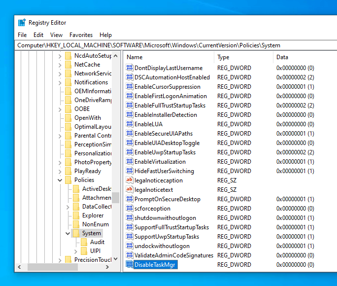 Disable task manager 07