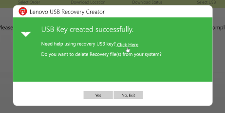 Lenovo recovery usb drive step 04