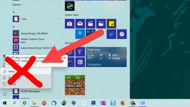 Remove sleep option from start menu - featured