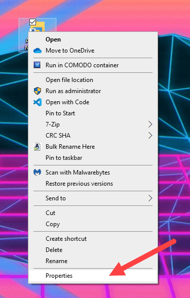 Win10 available networks shortcut - select properties