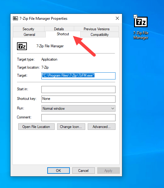 Win10 remove shortcut arrow - arrow removed