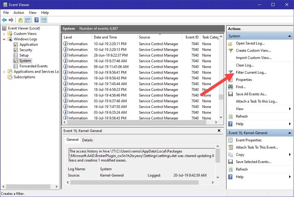 Các Bước Để Xem Lịch Sử Khởi Động Và Tắt Máy Trong Windows 10 - VERA STAR