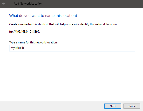 Windows 10 map ftp as drive - set ftp drive name