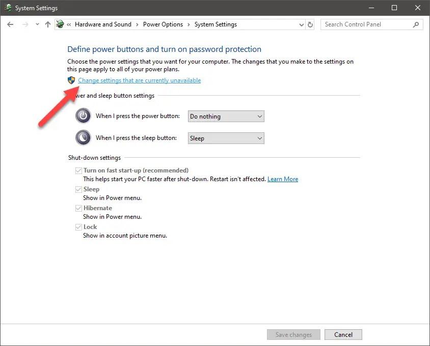 How to Remove 'Sleep' Option from Windows 10 Start Menu