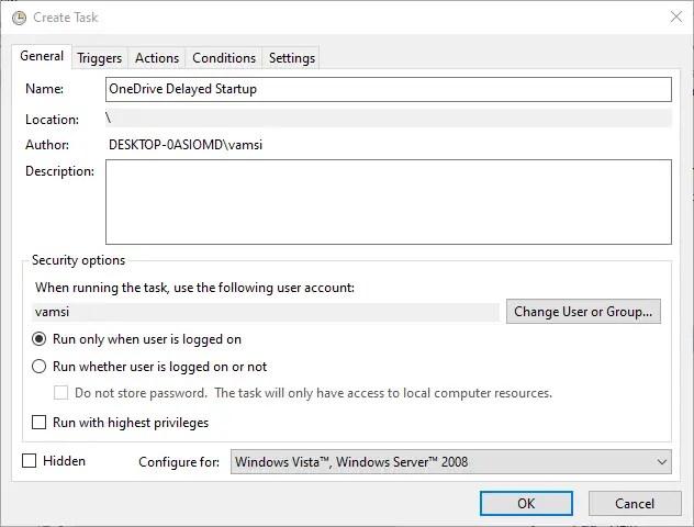 Backup task scheduler - verify settings