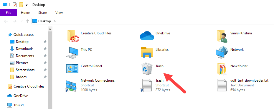Windows-10-hide-recycle-bin-click-on-trash-icon