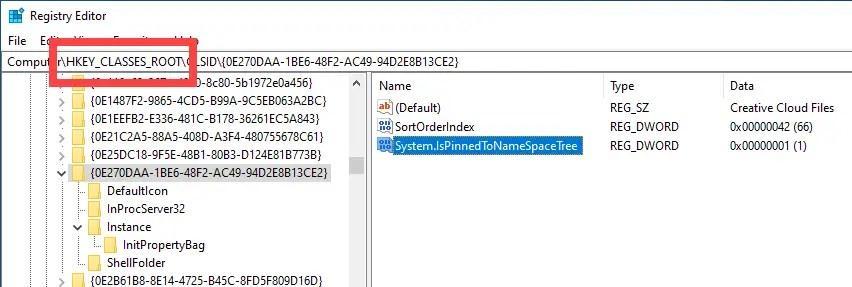Unpin-remove-creative-cloud-files-folder-ccf-folder-found-in-root-folder