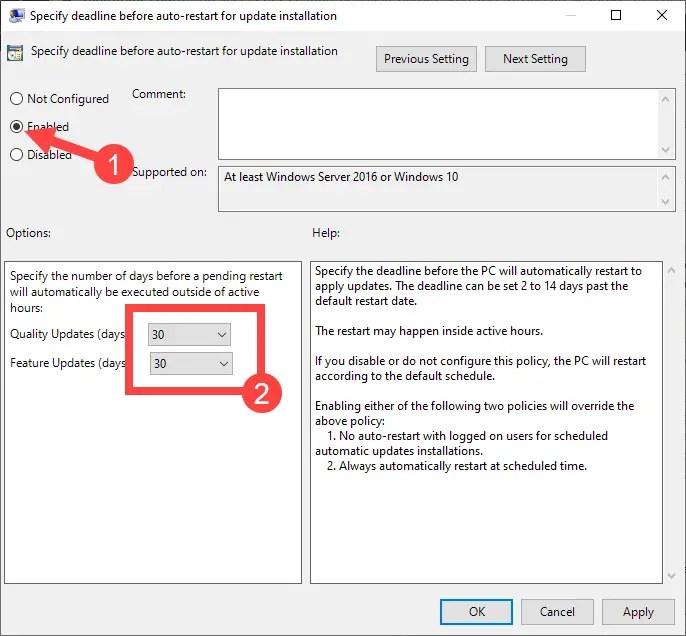 Win-10-auto-restart-deadline-settings-enable-policy