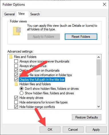Win-10-show-full-path-file-explorer-select-checkbox