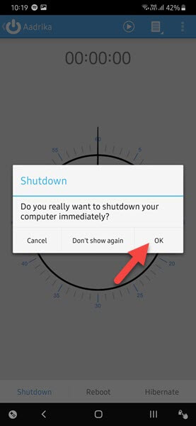 Remote-shutdown-windows-from-android-confirm-shutdown