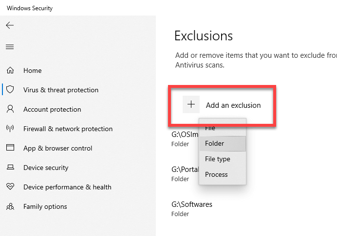 Windows-defender-exclude-folder-file-click-add-exclusions-button