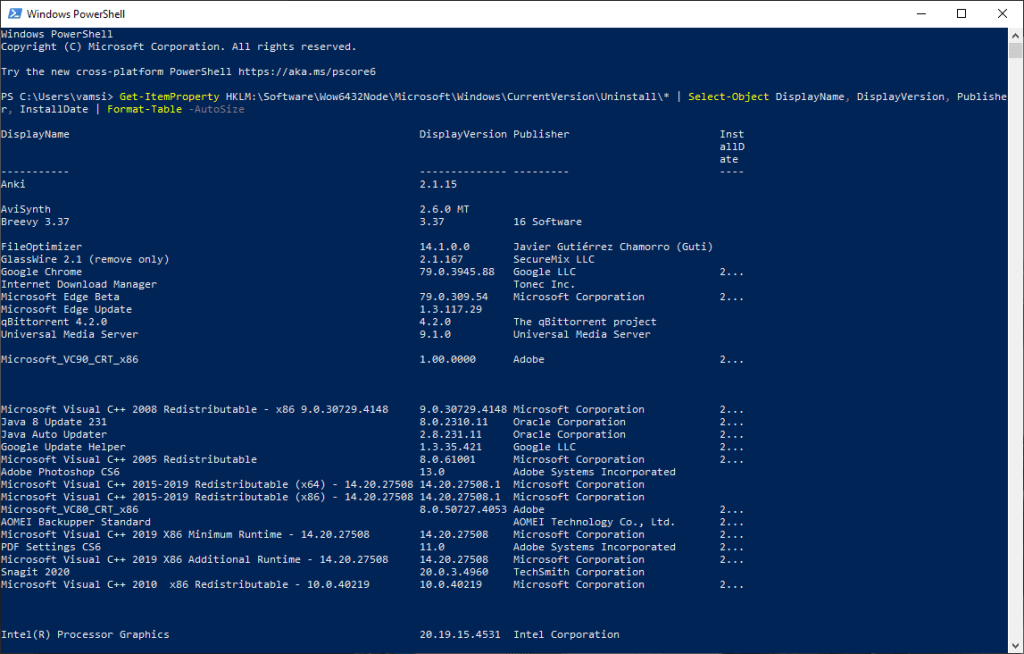 Export-installed-programs-list-windows-powershell-command
