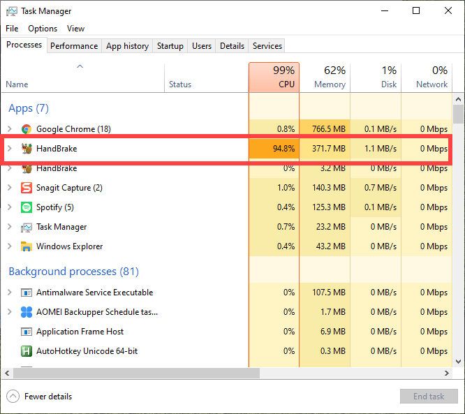 Handbrake-high-cpu-usage-in-windows