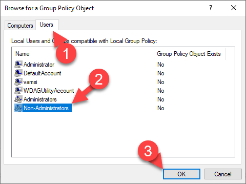 Non-administrator-group-policy-windows-select-non-admins