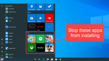Stop suggested apps from installing windows 10 - featured