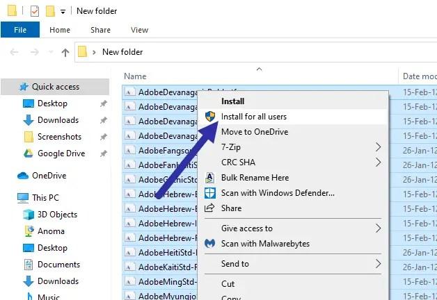 Backup-fonts-windows-select-install
