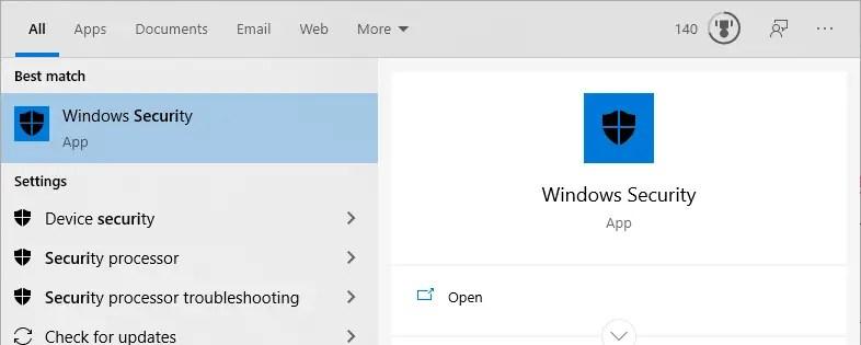 Disable-windows-defender-notifications-open-windows-security