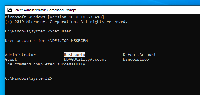 Disable-user-account-windows-list-users