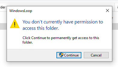 Restrict-folder-access-windows-permissions-message