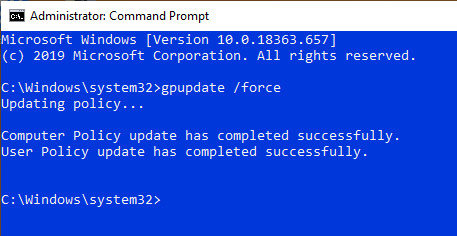 Force-update-group-policy-settings-execute-command