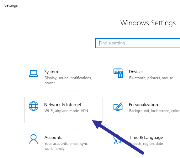 Windows-10-mac-address-open-settings