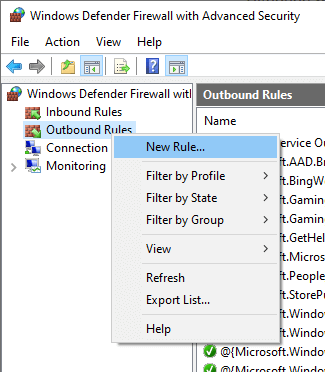 Block-program-with-windows-firewall-new-rule