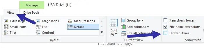 Custom usb drive icon - hide files