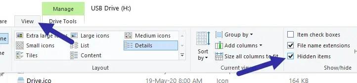 Custom usb drive icon - show hidden files