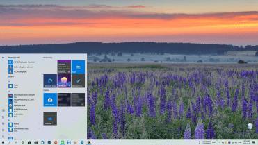 Windows 10 2004 start menu