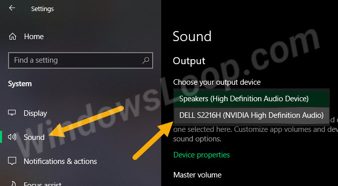 Change-default-audio-playback-device-from-sound-page-260620-1