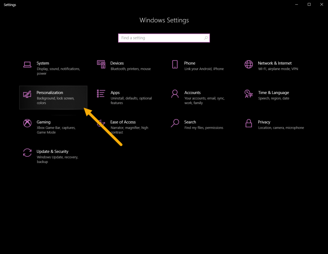 Go-to-personalize-page-in-settings-140620