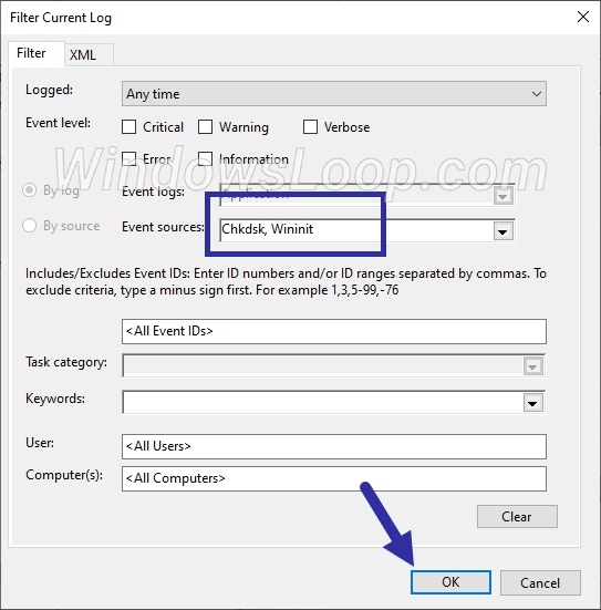 Save-filter-settings-to-find-chkdsk-logs-in-event-viewer-210620