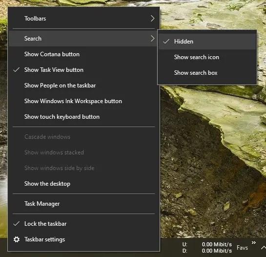 Remove-taskbar-search-bar-windows-10-080720