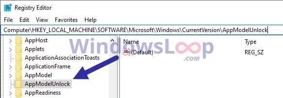 Developer-mode-registry-key-100820