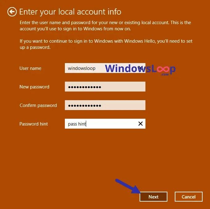 Local-account-username-password