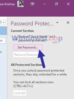 Set-password-onenote-2016-020820