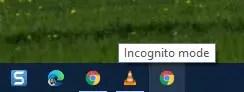 incognito mode shortcut on taskbar
