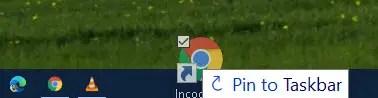 pin incognito mode to taskbar