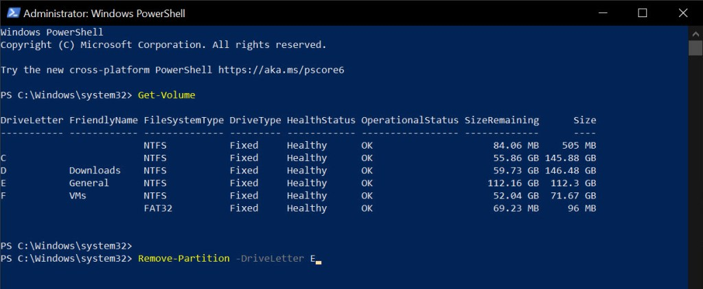 Remove-partition-powershell-command-050121